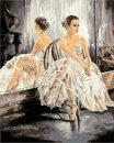 Картины по номерам серия «Балерины» ТМ «Фрея».