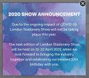 Лондонская выставка канцелярских товаров 2020 отменена