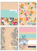 Блокноты BG ″Крафт с цветами″: эко-стиль с цветочным шармом