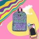 Крутой рюкзак в городском стиле со светоотражающим принтом от Феникс+