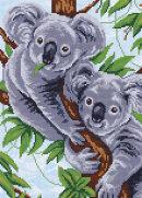 Кристальная мозаика (алмазная вышивка) «Две коалы» от ТМ «Фрея»