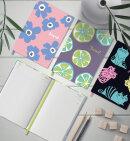 Яркий недатированный ежедневник из коллекции ESCALADA 2021 с высокой полноцветной печатью.