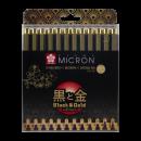 Sakura Pigma Micron Black & Gold Edition Set 10+2