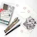 Обзор набора Sakura Zentangle Tool Set 12 от Марии Василисиной