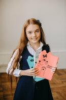Новинка!!! Школьный дневник со съёмной обложкой из ПВХ с фигурной вырубкой по краю и шелкографей