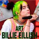 Рисуем Билли Айлиш яркими карандашами от BG!
