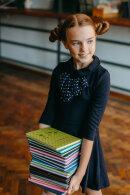 Товарный обзор: дневники в твёрдом переплёте с поролоном из новой коллекции Школа 2021 от Феникс+.