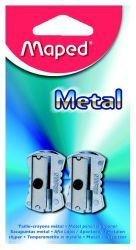 Maped METAL Точилка 1 отверстие, металлическая, классический дизайн, 2 шт