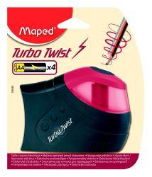 Maped TURBO TWIST Точилка 1 отверстие, с контейнером, электрическая, работает от батареек