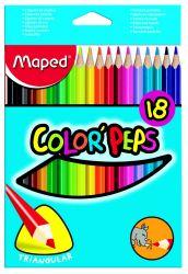 Maped COLOR′PEPS Карандаши цветные из американской липы, треугольные, ударопрочный...