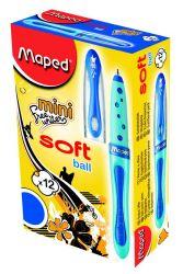 Maped FREEWRITER Ручка шариковая, мини, технология Soft Ball, средняя толщина линии - 1мм, обрезиненный синий корпус, синяя