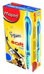 Maped FREEWRITER Ручка шариковая автоматическая, технология Soft Ball, средняя толщина...