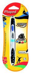 Maped TWIN TIP Ручка шариковая автоматическая двухсторонняя, 4 стандартных цвета,...