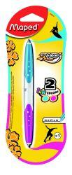 Maped TWIN TIP Ручка шариковая автоматическая двухсторонняя, 2 цвета - синий и розовый,...