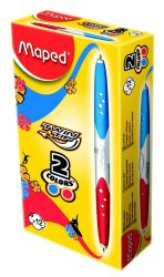 Maped TWIN TIP Ручка шариковая автоматическая двухсторонняя, 2 цвета - синий и красный,...