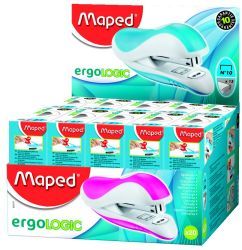Maped ERGOLOGIC Степлер карманный эргономичный, на 15 листов, скобы №10, с встроенным...