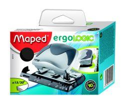 Maped ERGOLOGIC Дырокол эргономичный на 15/20 листов, на 2 отверстия, с линейкой