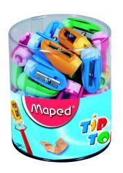 Maped TIP TOP Точилка 1 отверстие, в виде насадки на карандаш ,с клипом