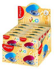 Maped VIVO Степлер пластиковый детский, на 15 листов, скобы №10, с встроенным...