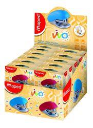 Maped VIVO Степлер пластиковый детский, на 15 листов, скобы 24/6 и 26/6, с встроенным...