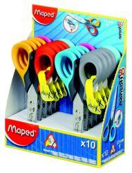 Maped SENSOFT Ножницы 13 см, эргономичные, концепция 3D - специально для детской руки, с гибкими двухцветными ручками, симметричные, для левшей