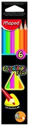 Maped COLOR′PEPS Карандаши цветные из американской липы, флуоресцентные, треугольные,...