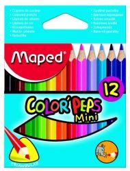 Maped COLOR′PEPS Карандаши цветные из американской липы, размер мини, треугольные,...