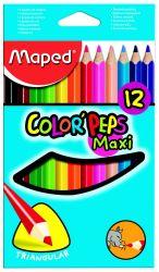 Maped COLOR′PEPS Карандаши цветные из американской липы, размер макси, треугольные,...