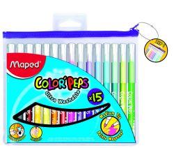 Maped COLOR′PEPS Фломастеры с треугольным заблокированным пишущим узлом - для тонкого...