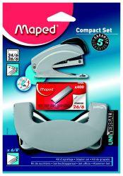 Maped UNIVERSAL METAL Набор: степлер мини металлический на 15 листов; 400 скоб 26/6; дырокол на 8 листов