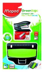 Maped GREENLOGIC Набор экологичный: степлер мини на 15 листов, скобы 24/6 и 26/6;...